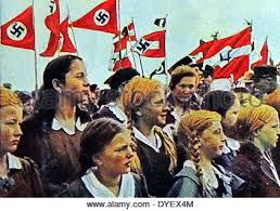 Nazi rally girls