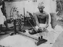 Gandhi spinnin