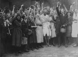 Gandhi with public